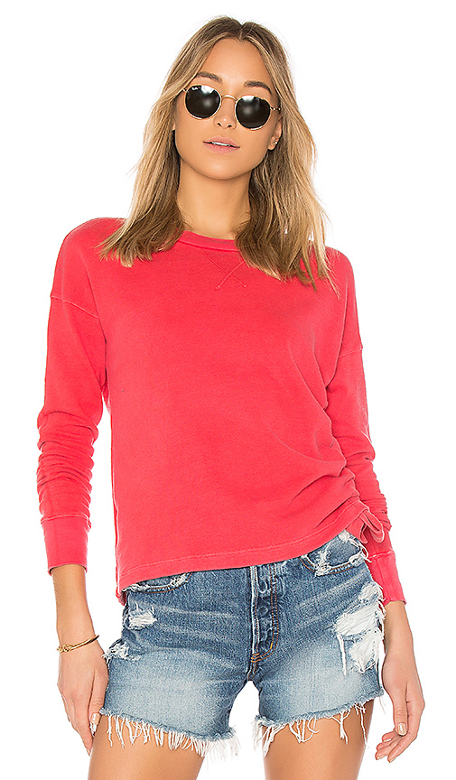 Stateside French Terry Top in Red. - size XS (also in L,M,S)