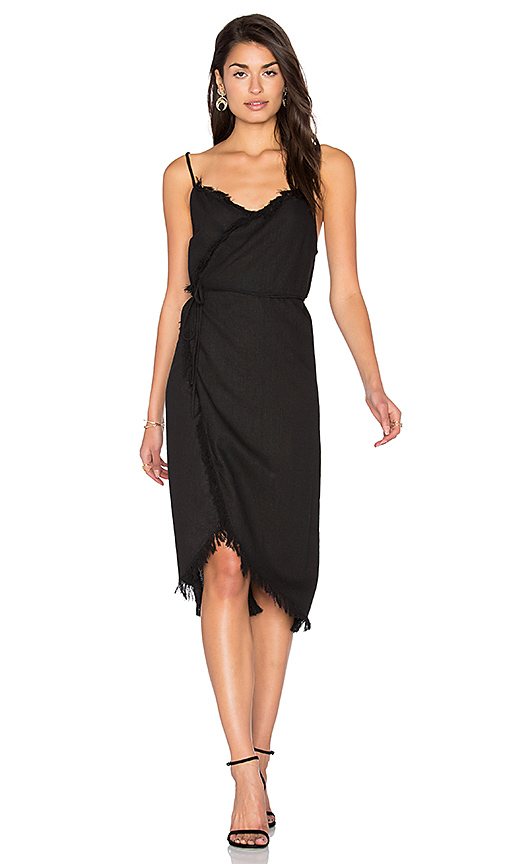 Steele Farra Wrap Dress in Black. - size M (also in XS)
