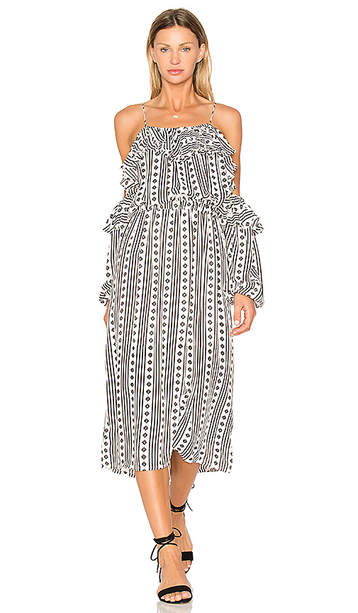 Steele Liberty Midi Dress in Black & White