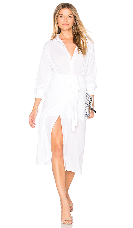 Steele Stevie Wrap Dress in White