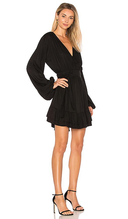 Steele Felice Wrap Dress in Black. - size L (also in M,S,XS)