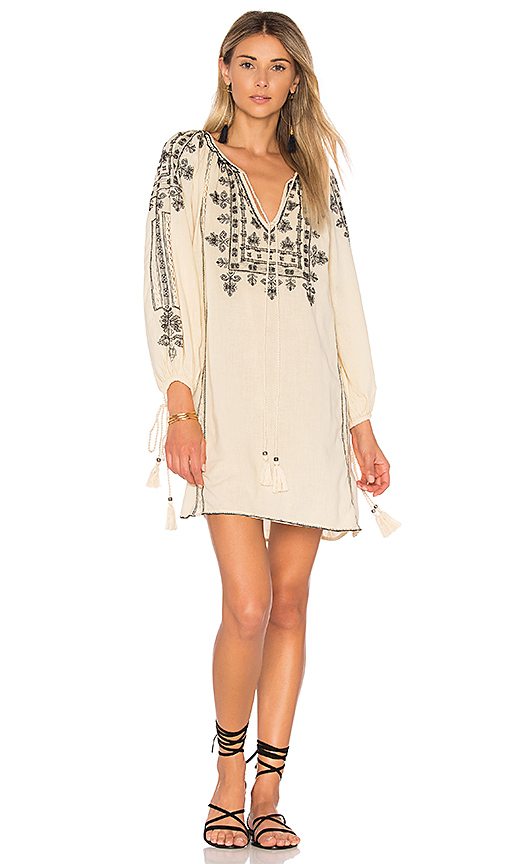 Star Mela Danika Embroidered Dress in Beige
