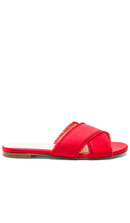 Stuart Weitzman Edgedout Slide in Red