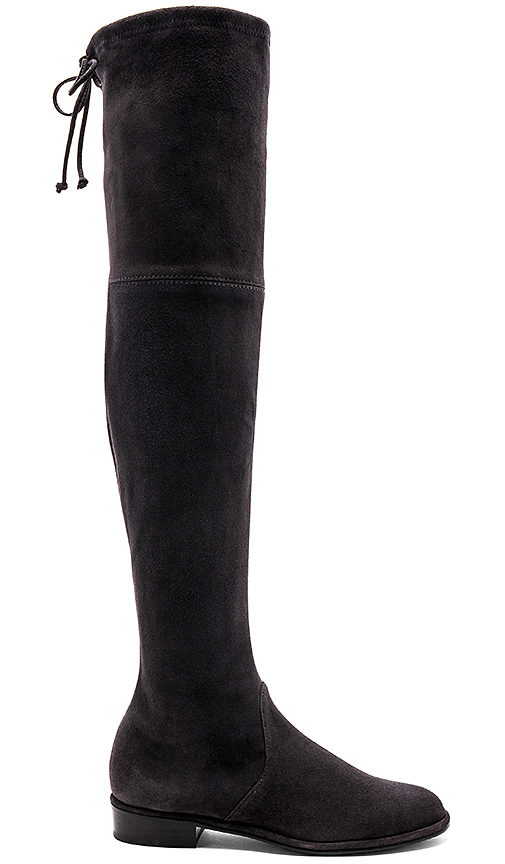 Photo of Stuart Weitzman Lowland Boot in Charcoal - shop Stuart Weitzman shoes sales