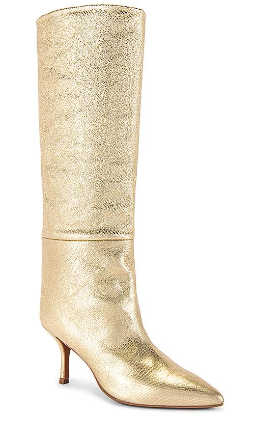 Stuart Weitzman Magda Boot in Metallic Gold