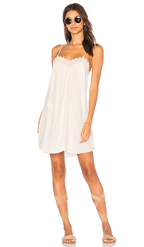 Stillwater Lace Trim Dress in White. - size L (also in M,S,XS)