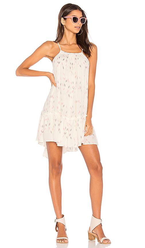 Stillwater Sun Beam Ruffle Dress in White