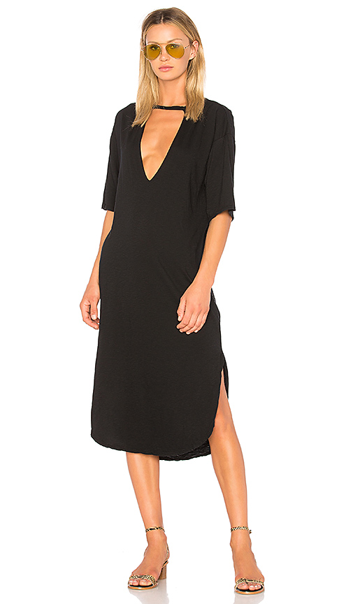 Stillwater Lana Rose Tee Dress in Black