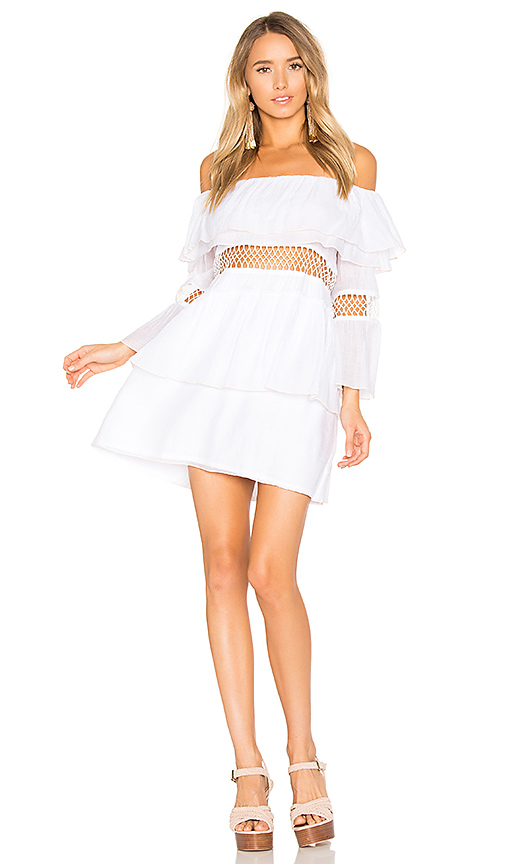 Photo of Suboo Closer Frill Off Shoulder Dress in White - shop Suboo dresses sales