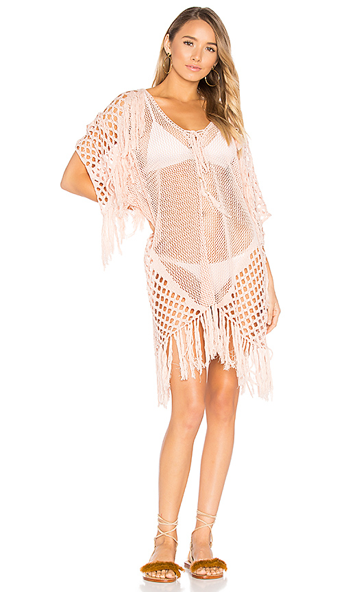 Suboo New Romantics Fringe Caftan in Blush