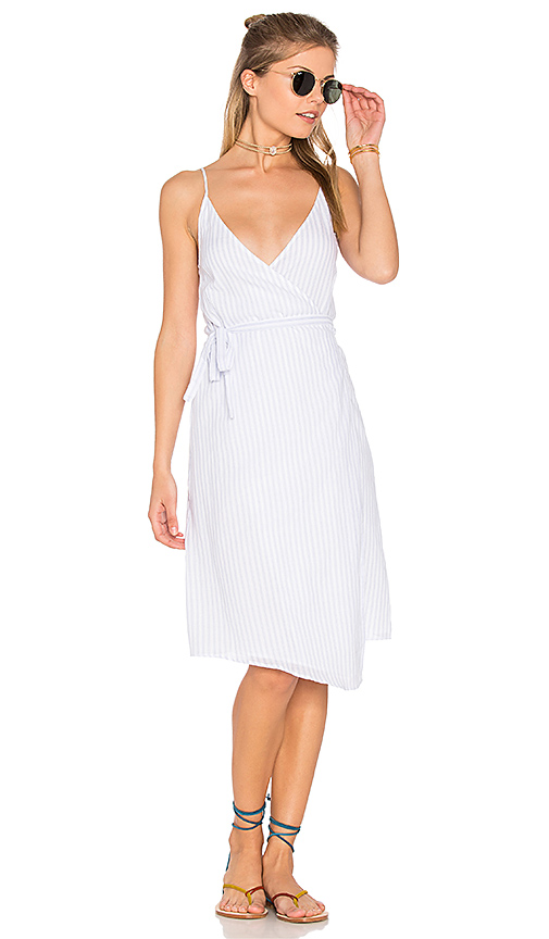 Suboo Into You Wrap Dress in Blue. - size Aus 10/US 6 (also in Aus 4/US 0)
