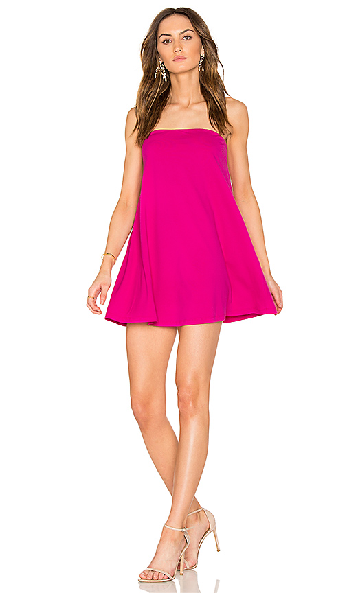 Susana Monaco Tube Drape Dress in Fuchsia