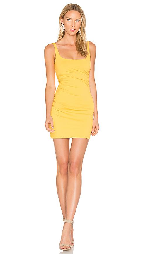 Susana Monaco Gather Tank 17 Dress in Yellow. - size L (also in M)