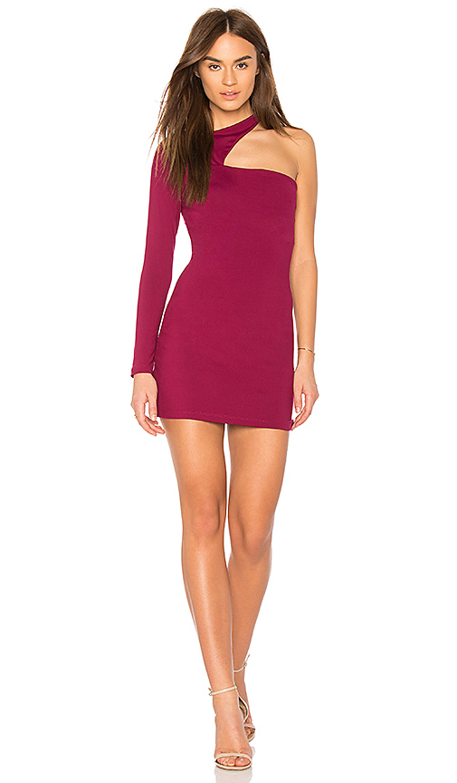 Susana Monaco Norah Mini Dress in Burgundy