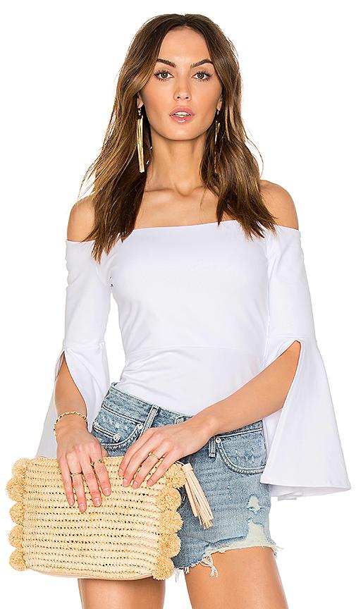 Susana Monaco Sidney Top in White. - size L (also in M,S,XS)