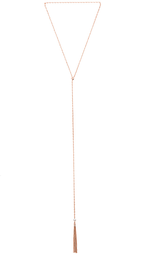 Samantha Wills Before the Sunset Pearl Lariat in Metallic Gold