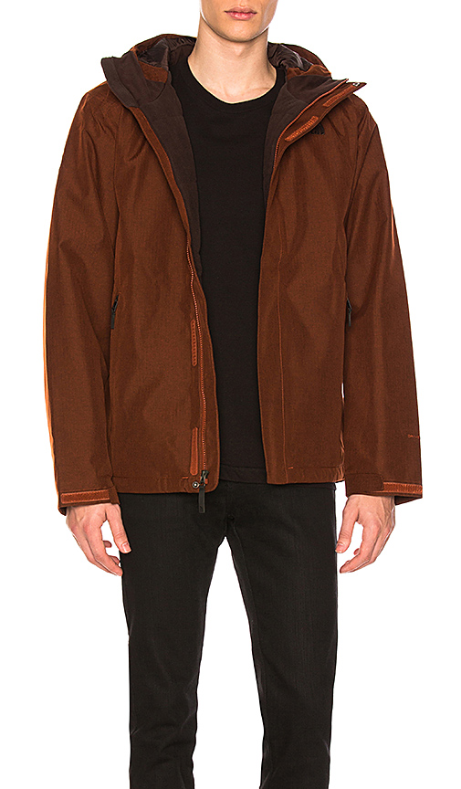 The North Face Inlux Insulated Jacket in Brown, Red. - size S (also in L,M)