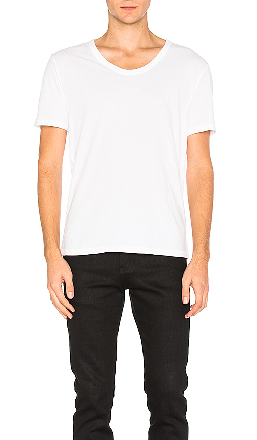 T by Alexander Wang Classic Low Neck Tee in White. - size M (also in XL)