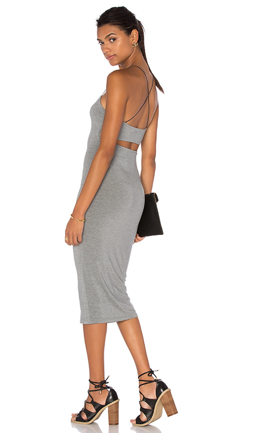 T by Alexander Wang Strappy Cami Tank Dress in Gray