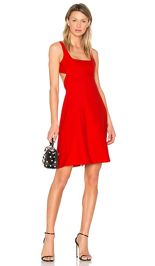T by Alexander Wang Bralette Midi Dress in Red