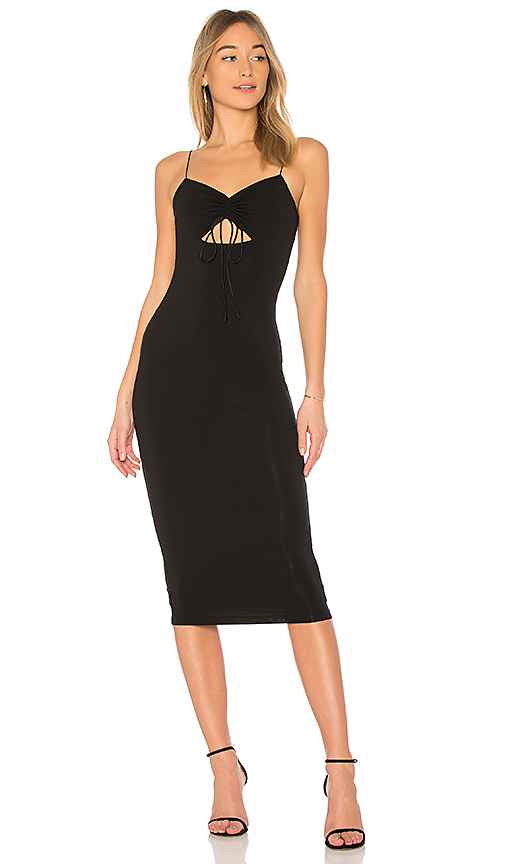 T by Alexander Wang Cut-Out Jersey Dress in Black