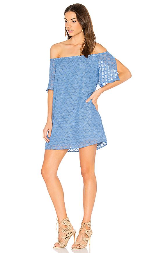 Three Eighty Two Kenzie Dress in Blue