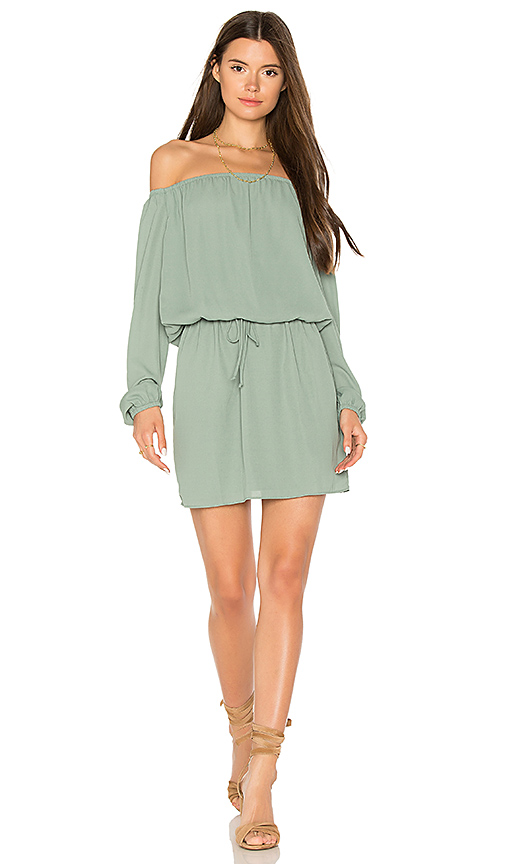 Three Eighty Two Willow Dress in Sage