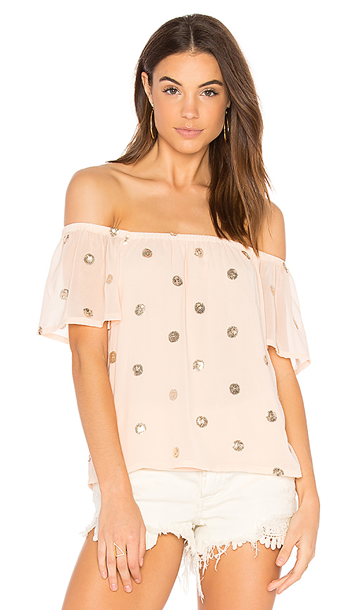 Three Eighty Two Eli Top in Peach