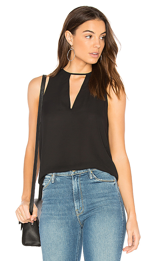 Three Eighty Two Brie Tank in Black