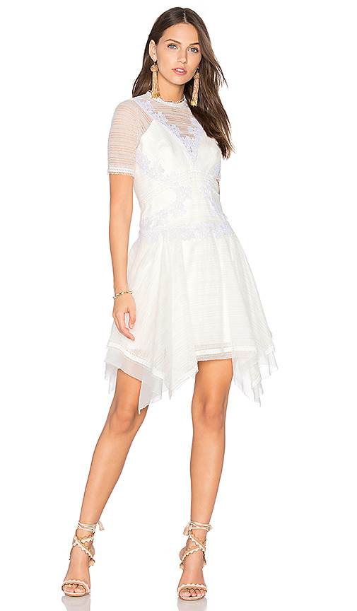 Three Floor After Party Dress in White