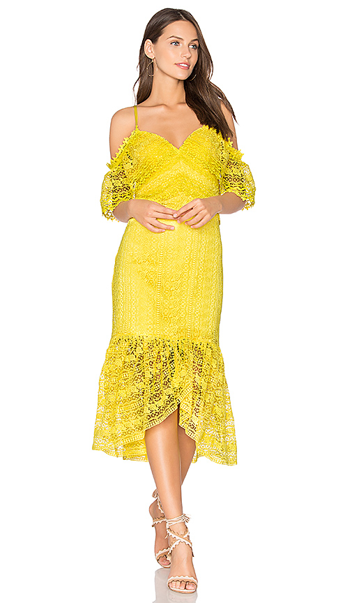 Three Floor Starry Eyed Dress in Yellow