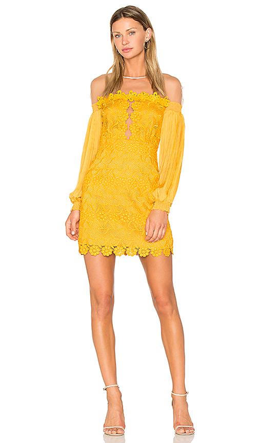 Three Floor Gardenia Dress in Yellow