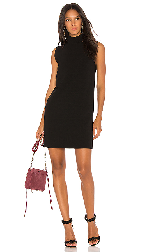 Theory Slit Collar Dress in Black