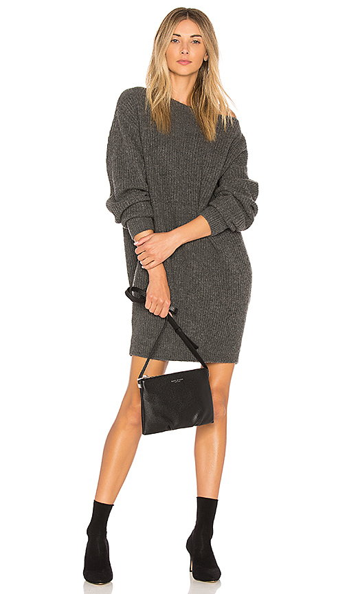 Theory Rib Cocoon Dress in Gray