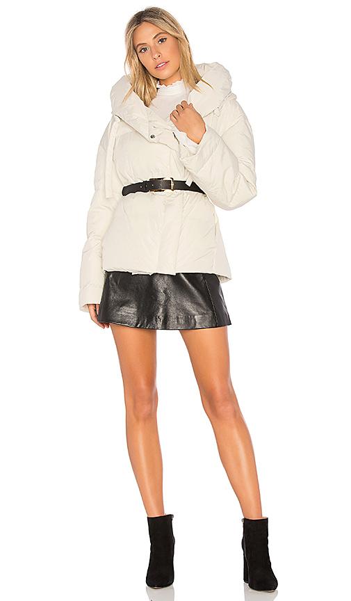 Theory Toralla Short Puffer Jacket in Light Gray