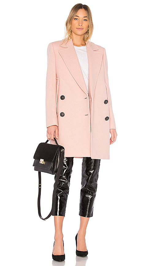 Theory Cape Coat in Pink