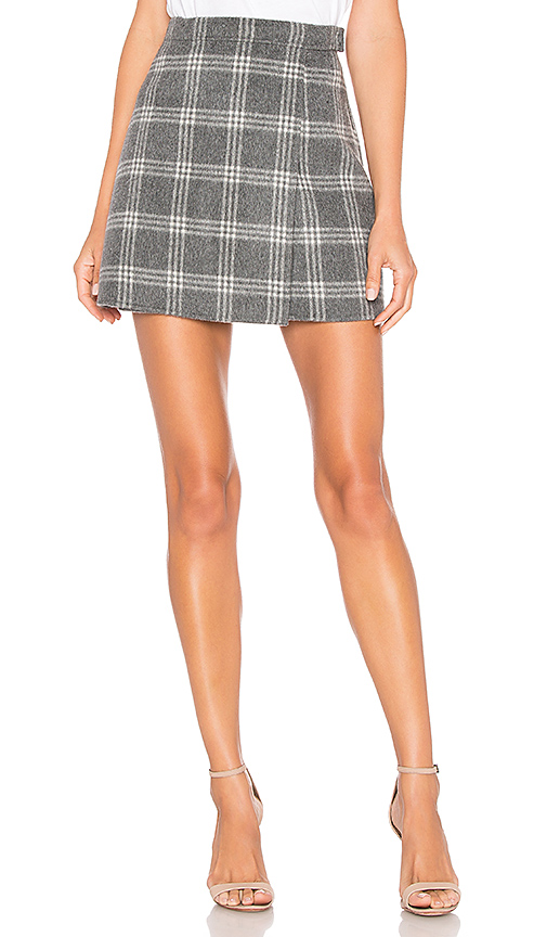 THEORY | Theory Snap Mini Skirt In Gray. - Size 6 (Also In 2) | Goxip