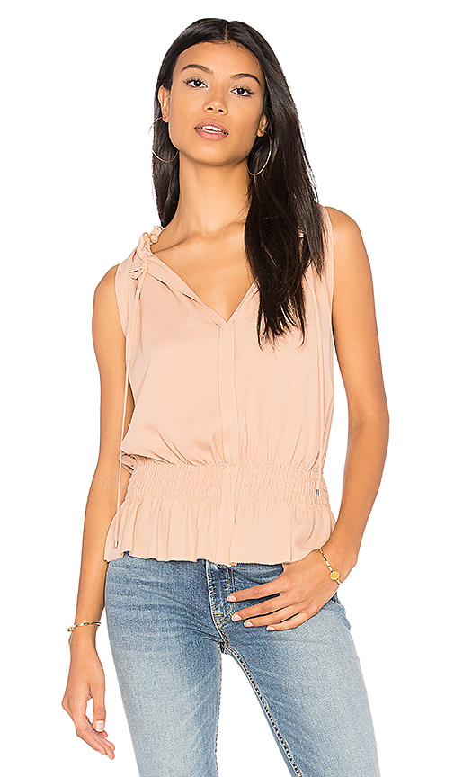 Photo of Theory Dezzie Tank in Peach - shop Theory tops sales