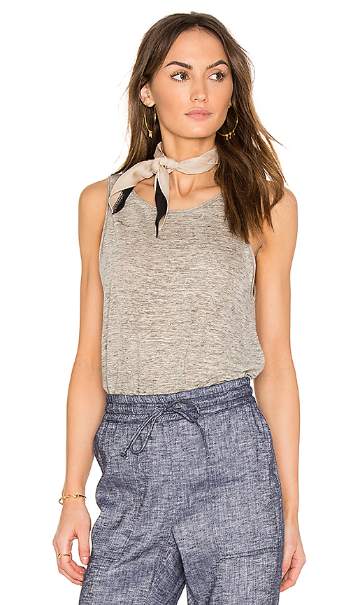 Photo of Theory Insar 2 Tank in Gray - shop Theory tops sales