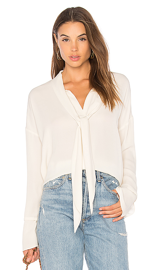 Photo of Theory Scarf Blouse in Ivory - shop Theory tops sales