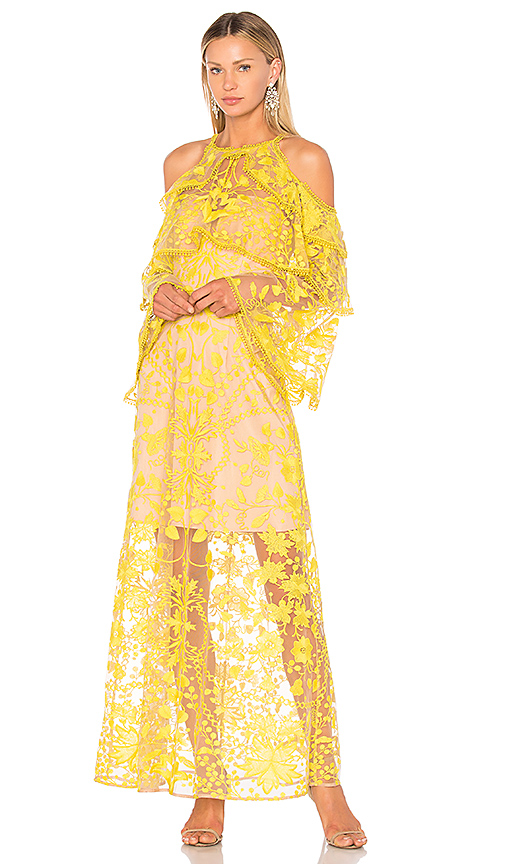 THURLEY Marigold Maxi Dress in Yellow