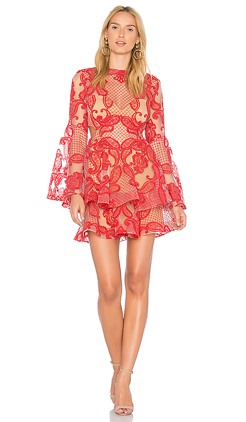 THURLEY Paisley Passion Dress in Red