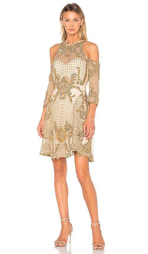 THURLEY Vanderbilt Dress in Metallic Gold
