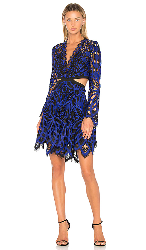 THURLEY Vassete Lace Dress in Royal