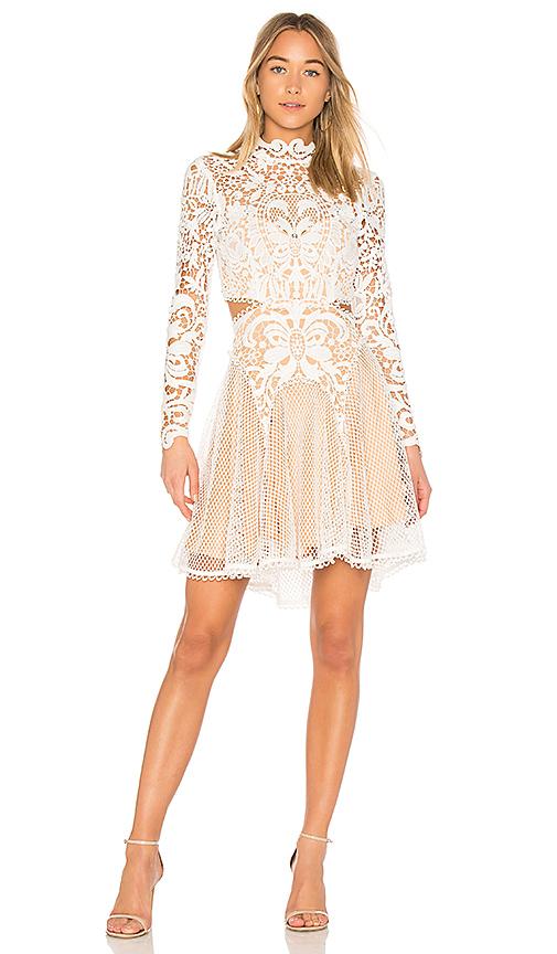 THURLEY Enchanted Garden Mini Dress in White