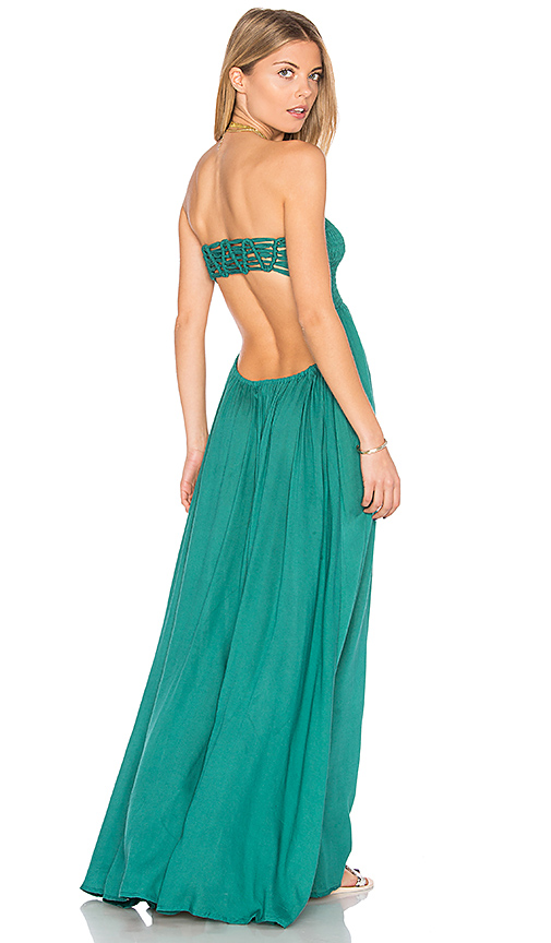 Tiare Hawaii Kai Strapless Maxi Dress in Green.