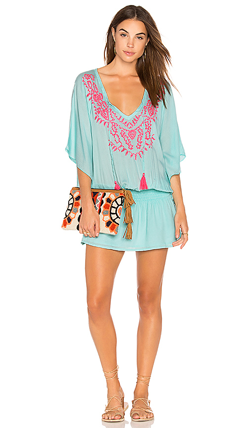 Tiare Hawaii Margarita Dress in Teal.
