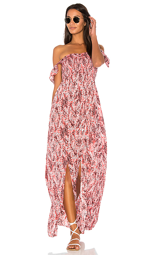 Tiare Hawaii Hollie Maxi Dress in Pink.