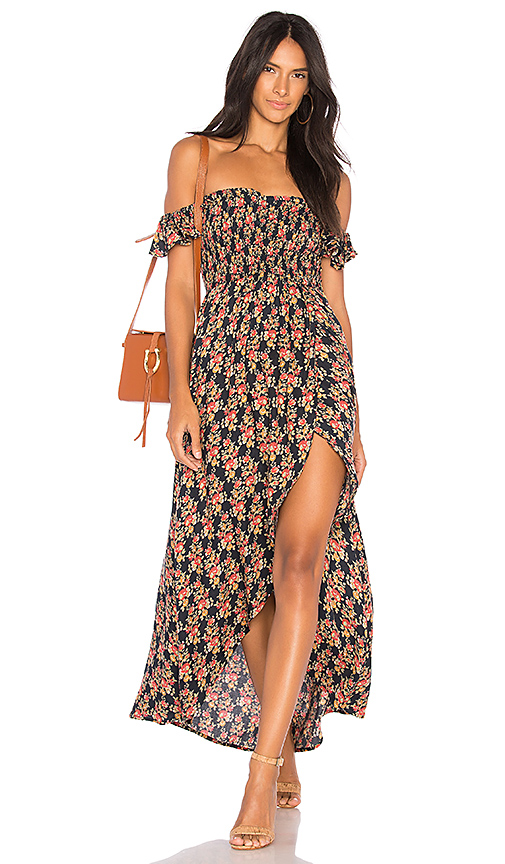 Tiare Hawaii Paradise Dress in Black.