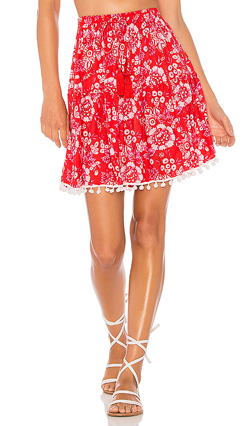 Tiare Hawaii Lover Skirt in Red.